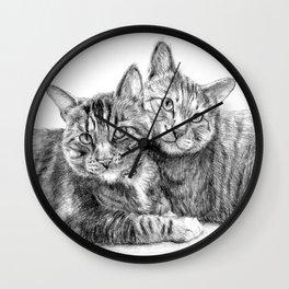 Arya and Dante portrait Wall Clock