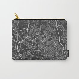 Toulouse Map, France - Gray Carry-All Pouch
