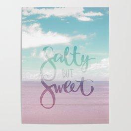 Salty but Sweet - Pink Summer Beach Sea Ocean Nature Poster