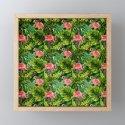 Aloha- Tropical Flamingo Bird and Palm Leaves Garden by originalaufnahme