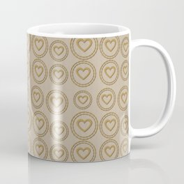 Cute Gold Hearts Pattern Coffee Mug