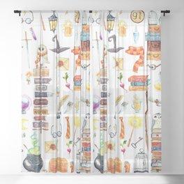 Wizard School Sheer Curtain