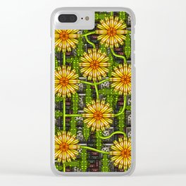 Dandelion Garden Clear iPhone Case