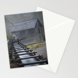 The Old Mingus Mill and Flume in the Great Smoky Mountain National Park in Tennessee Stationery Cards