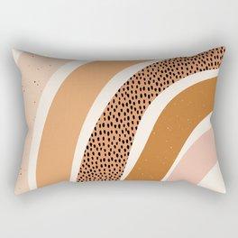 Earth Color Rainbow Rectangular Pillow