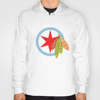 blackhawks Hoodies featuring City of the Four Feathers by fohkat
