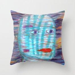 Plaid Head Throw Pillow