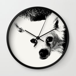 White Dog Wall Clock