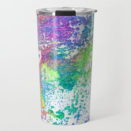 Rainbow Paint Splatter V2 Travel Mug