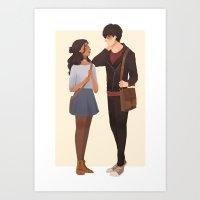 zuko Art Prints featuring zutara by punziella