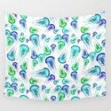 Bluegreen Jellyfish Watercolor Art by creativelycici