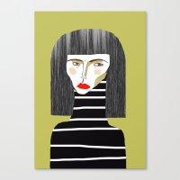 fashion illustration Canvas Prints featuring Fashion Illustration. by Ashley Percival illustration