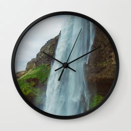 Vintage Seljalandsfoss Wall Clock
