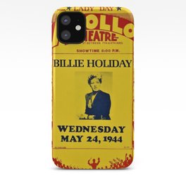 1944 Billie Holiday Concert Poster Apollo Theater iPhone Case