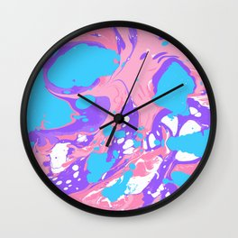 Bubble gum marble Wall Clock