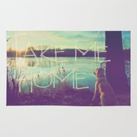home sweet home Area & Throw Rugs featuring HOME by Monika Strigel®