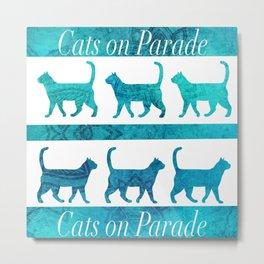 Cats on Parade Metal Print