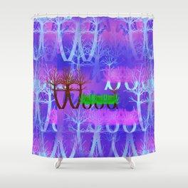 W - pattern wood 2 Shower Curtain