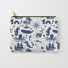 High Seas Adventure // Navy Blue Carry-All Pouch