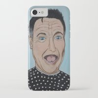 robin williams iPhone & iPod Cases featuring Robin Williams Portrait by Tania Allman Art