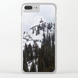 Watchtower at the Snowy Peak Clear iPhone Case