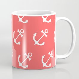 Anchors in Coral Coffee Mug