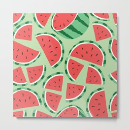 Watermelon pattern 01 Metal Print