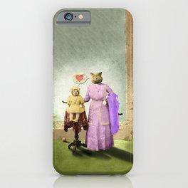 Momma Kitty Loves Her Kitten iPhone Case