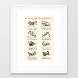 MUSICAL INSECTS OF THE WORLD Framed Art Print