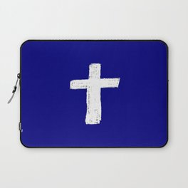 Christian Cross Chalk version Laptop Sleeve
