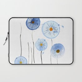blue abstract dandelion 2 Laptop Sleeve