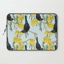 Tuis in the Kowhai Flowers Laptop Sleeve