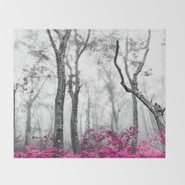 Princess Pink Forest Garden Throw Blanket