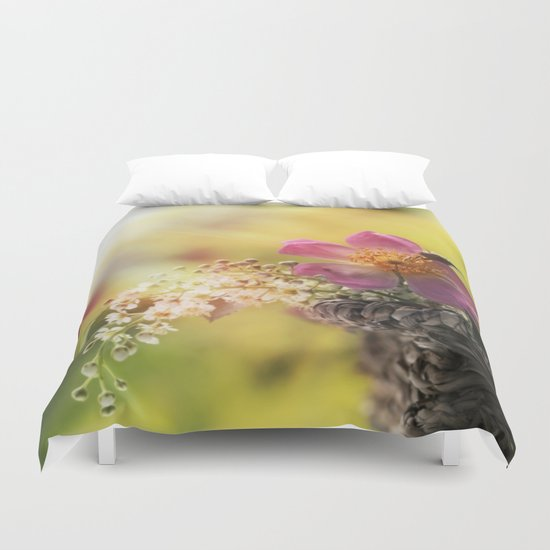 Lovely flowerbouquet in a special light- Rose Roses Duvet Cover