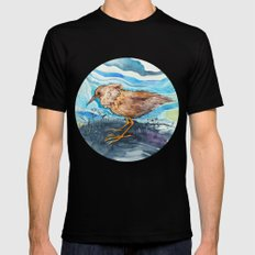 Bird in a circle Black Mens Fitted Tee SMALL