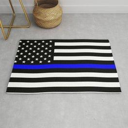 Police Flag: The Thin Blue Line Rug