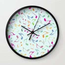 Music Colorful Notes Wall Clock