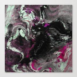 Purple and Black Minimalist Art / Abstract Painting Canvas Print