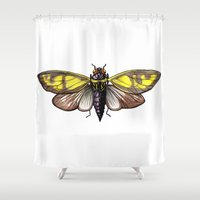insect Shower Curtains featuring Insect by Freja Friborg