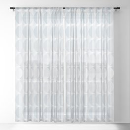 Leaves in the mist - a pattern in ice gray Sheer Curtain