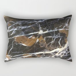 Stylish Polished Black Marble Rectangular Pillow
