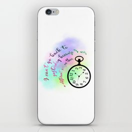 I can't go back to yesterday (Alice in Wonderland) iPhone Skin