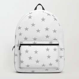 Light grey stars seamless pattern Backpack