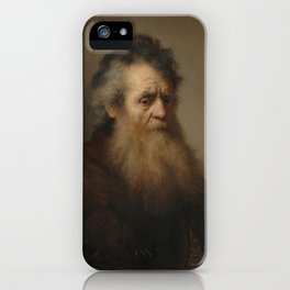 Portrait of an Old Man - Rembrandt Harmensz van Rijn iPhone Case