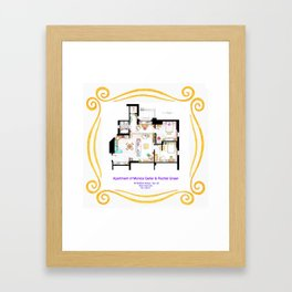 Apartment of Monica and Rachel from FRIENDS Framed Art Print