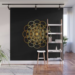 Flower or circle of life Wall Mural