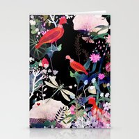 Stationery Cards featuring enchanted night by Danse de Lune