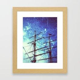 Cutty Sark In Blue Framed Art Print