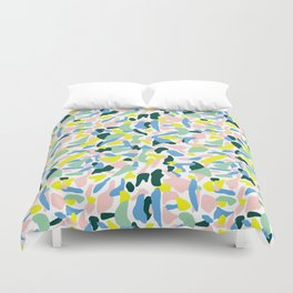 Postmodern Painting in Nile Pastel Duvet Cover