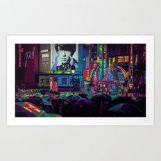 SHIBUYA NIGHTS / 渋谷 / Neon Noir Art Print